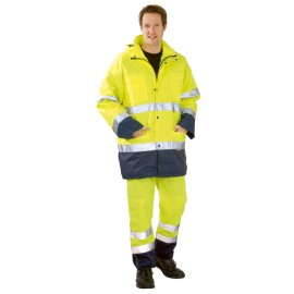 Jól láthatósági bélelt, időjárásálló kabát